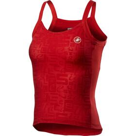 Castelli Promessa Jacquard Bavette Tank Top Women, rojo